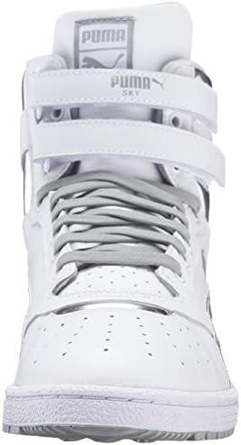 PUMA Men's Sky II HI FG Foil Fashion Sneaker, Puma White