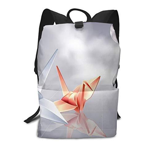 Multi Function Travel Storage Backpack,Adjustable Backpack Straps,Zip Closure,Durable Origami Crane Daypack ()