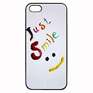 Just Smile Custom Image Case iphone 4 case , iphone 4S case, Diy Durable Hard Case Cover for iPhone 4 4S , High Quality Plastic Case By Argelis-sky, Black Case New