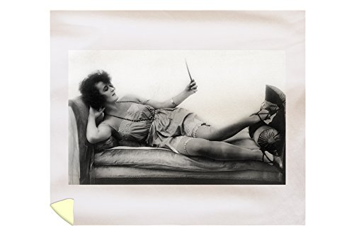 Pin-Up Girl Gazing into Her Mirror (88x104 King Microfiber Duvet Cover) by Lantern Press
