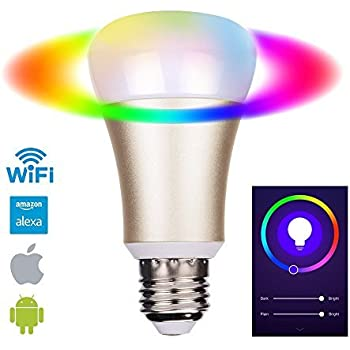 eosaga gold smart led bulb wifi a19 compatible with alexa dimmable 7w e27 no hub required. Black Bedroom Furniture Sets. Home Design Ideas