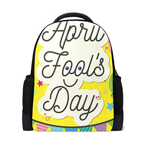 Backpack Welcome Cute Happy April Fools Day Clown Personalized Shoulders Bag Classic Lightweight Daypack for Men/Women/Students School for $<!--$26.99-->