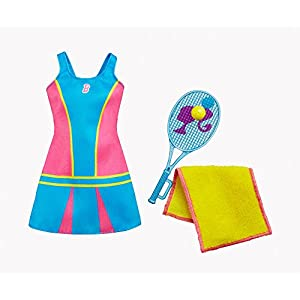 Barbie Fashions - Tennis Time Barbie Doll Outfit With Tennis Racket