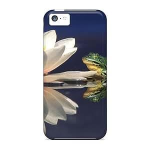 XiFu*MeiDurable Frogs Lotus Back Case/cover For iphone 5/5sXiFu*Mei