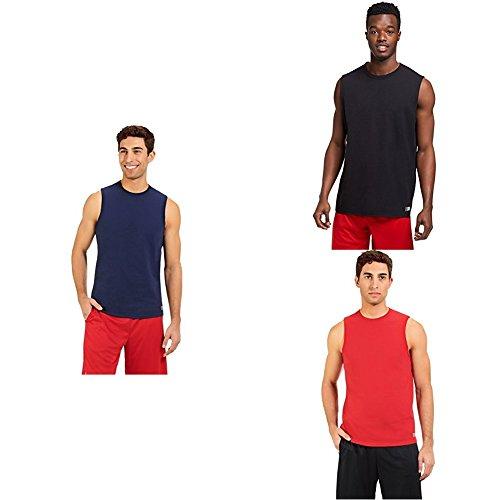 - Russell Athletic Men's Essential Muscle T-Shirt, Navy/Black/True Red, Medium