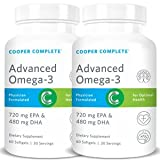 Cooper Complete – Advanced Omega 3 Fish Oil (1200mg) 720 EPA + 480 DHA- 60 Day Supply (2 Bottles) For Sale
