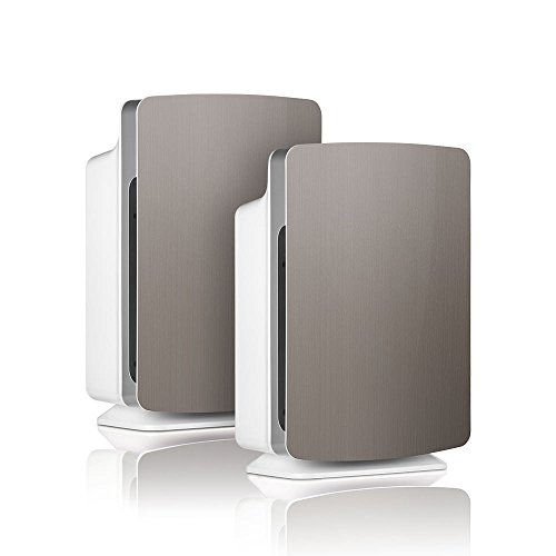 Alen-BreatheSmart-FIT50-Customizable-Air-Purifier-with-2-HEPA-Pure-Filter-for-Allergies-and-Dust-Brushed-Stainless-Smart-Bundle-Pure-2-Pack