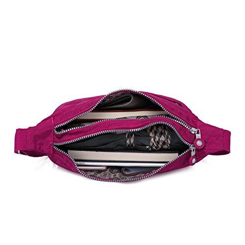 Fashion Sport Satchel Side Bag Body Travel Pack Women Bag Casual for Crossbody Bag Red Bag Foino Messenger Shoulder 1 Cross Lightweight zwUPqnOTS