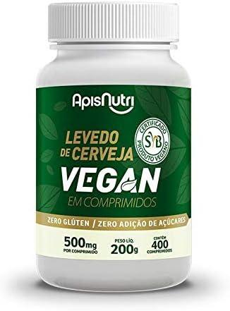 Levedo de Cerveja Vegan 500mg (400 comprimidos), Apisnutri