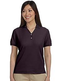 D100W Ladies Pima Pique Short-Sleeve Polo