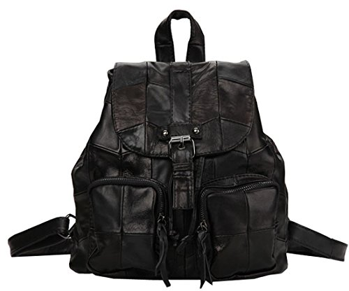 di cartella della a della della borsa tracolla maniglia dello cuoio borsa di zaino della borsa molle Sacchetto della scuola delle donne dw84g1qznz