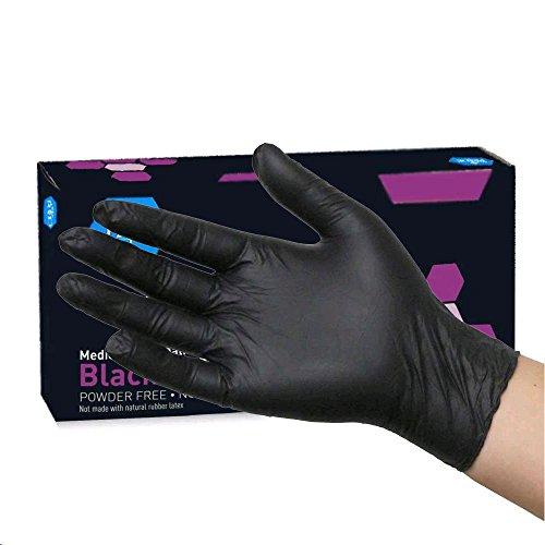MedPride Black Nitrile Powder Free Exam Gloves, X-Large, 100 ()