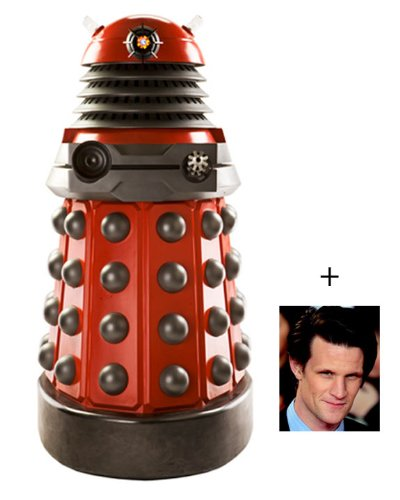 Fan Pack - Red Drone Dalek (Doctor Who) Lifesize Cardboard Cutout / Standee - Includes 8x10 (20x25cm) Star Photo