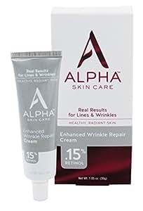 Alpha Skin Care Enhanced Wrinkle Repair Cream with .15% Retinol, 1.05 Ounce