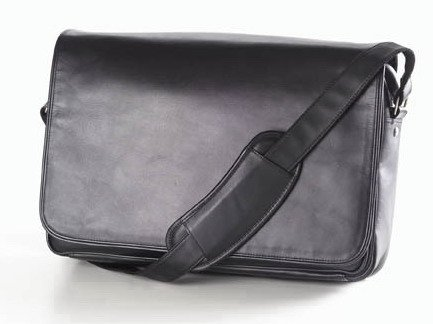 (Clava Leather Laptop Mailbag/Sling (Vachetta Black))