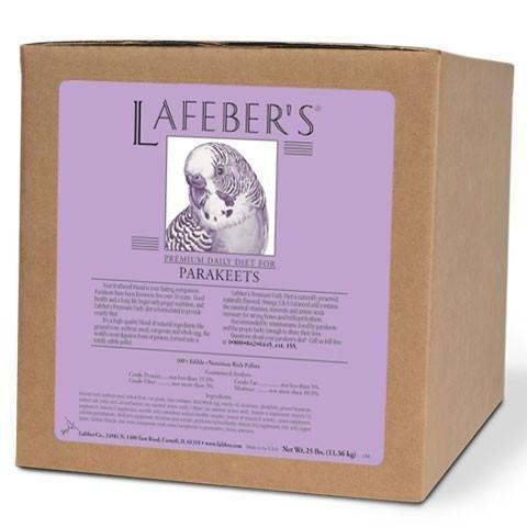 - LAFEBER'S Premium Daily Diet for Parakeets 25lb