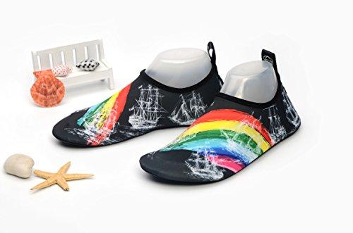 Yoga Marche Jardin Plage Chaussures Aqua Unisexe Lac Sports 2 Femmes Schage Hommes Parc Conduire Aptro Nager Rapide Noir Nautisme O4qBvnz