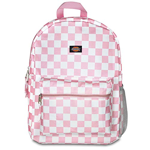 Dickies Student Backpack, Pink/White Checker, One Size -