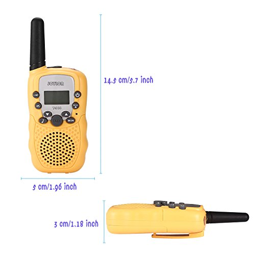 Joylor Durable Walkie Talkies Twin Toy for kids,Easy To Use and Kids Friendly 2-Way Radio 3-5KM Range Interphone Outdoor Camping Hiking-Yellow