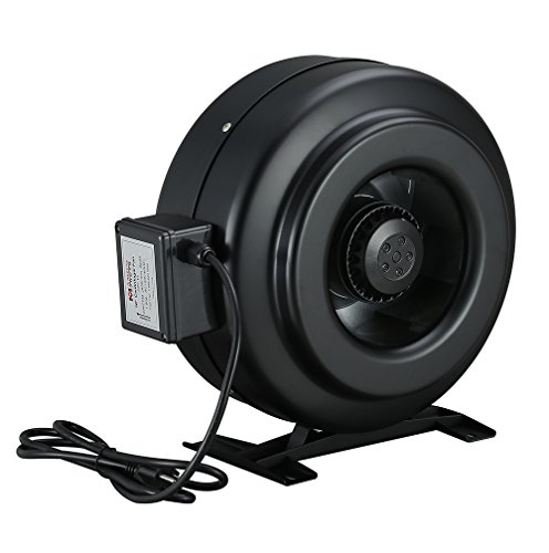 Small Inline Exhaust Fans : Inch hydroponics exhaust fan inline cooling duct
