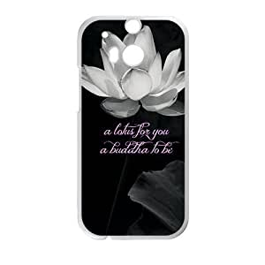 Canting_Good Lotus Custom Case for HTC One M8 (Laser Technology)