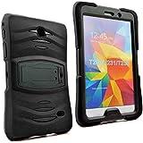 Galaxy Tab 4 7.0 2014 T230 Case, KIQ Shockproof Heavy Duty Dual-Layer Full-Body Rugged Kickstand Screen Protector Case…