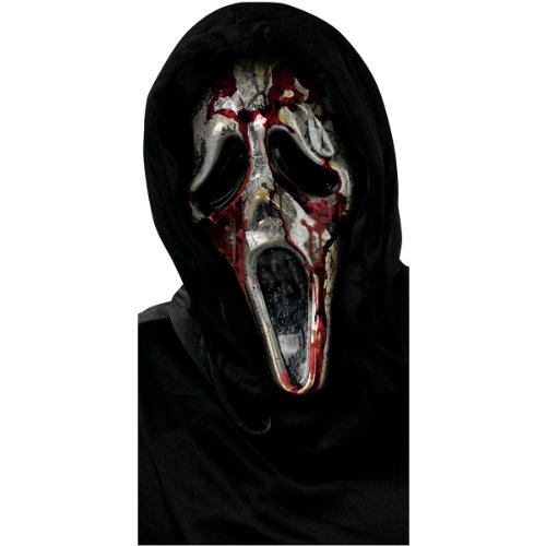 Fun World Men's Ghost Face Bleeding Zombie Mask, Multi Standard