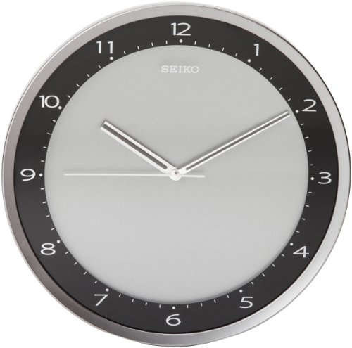 Seiko Wall Clock Quiet Sweep Second Hand Clock Black Metallic Case -  - wall-clocks, living-room-decor, living-room - 41tPGHxGGKL -