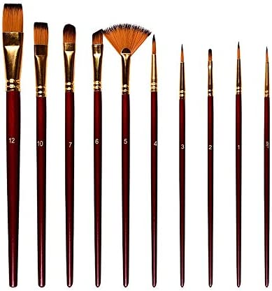 SDAKVDNS 10個のオイルペイントブラシ、快適なグリップのセットは、容易ではないによって変形、容易ではないが、髪を失うことを、オイルブラシのために美術や芸術絵画ペイント (Color : C)
