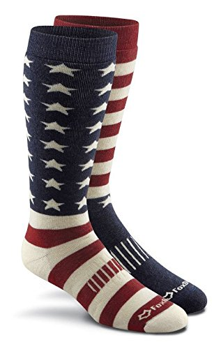 FoxRiver Men's Old Glory Over-The-Calf, Flag Asst, Small -