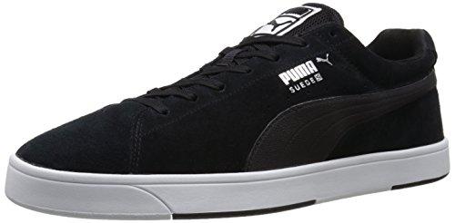 Puma Suede S con cordones de la zapatilla de deporte de moda Black/White Modern Tech