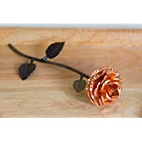 Personalized Hand Forged Copper and Wrought Iron Metal Rose