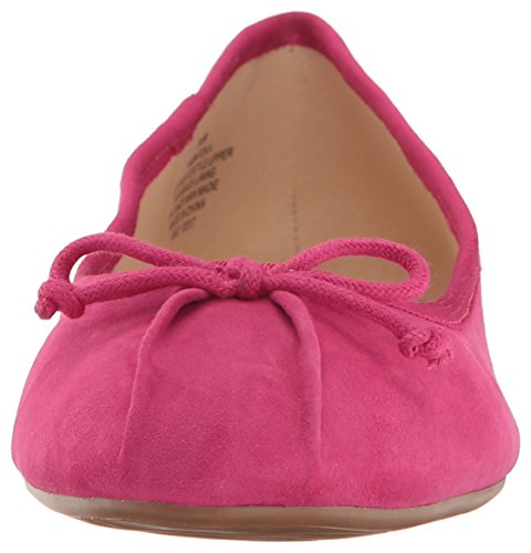 Nine Women's West Flat Ballet Pink Batoka Suede OOvqH6w