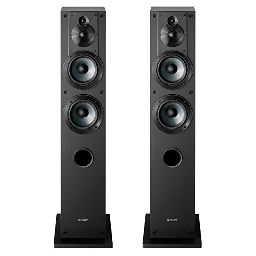 Sony SS-CS3 3-Way 4-Driver Floor-Standing Speaker - Pair (Black) (Sony Driver)