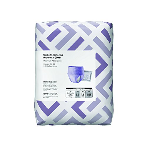 Amazon Brand - Solimo Incontinence Underwear for Women, Maximum Absorbency, Small/Medium, 60 Count by Solimo (Image #4)