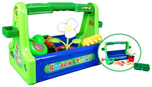Gartenspielzeug Box mit zwei Gießkannen