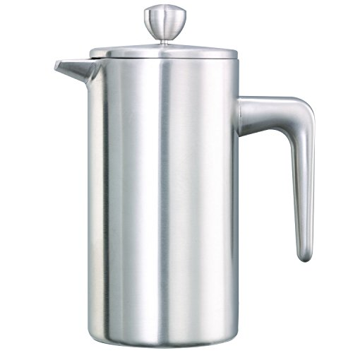 Service Ideas PDWSA350BS Double Wall Coffee Press, Stainless Steel, Brushed, 12 oz. by Service Ideas