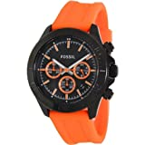 Fossil Retro Traveler Chronograph Silicone Watch – Orange Ch2873, Watch Central