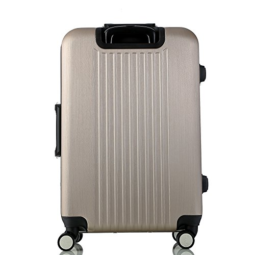 Lightweight Luggage Sets Glossy Trolley Case Suitcase Sets Hard Slide Spinner Expandable Luggage Bag for Travel and Business (20'', 24'') TSA, Gold by WELOVE (Image #5)
