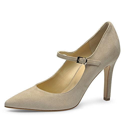 Evita Shoes ILARIA Damen Pumps Rauleder Beige
