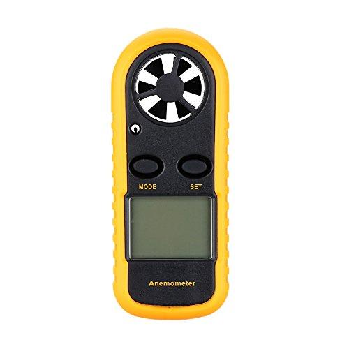 KKmoon Handwindmesser Digitaler Windmesser mit Anemometer Thermometer