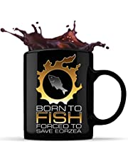 Born to Fish Fored to Save Eorzea 11oz keramische koffiemok, theekop chocoladekopjes, Grip C-handvat mokken voor warme en koude dranken, uniek cadeau-idee