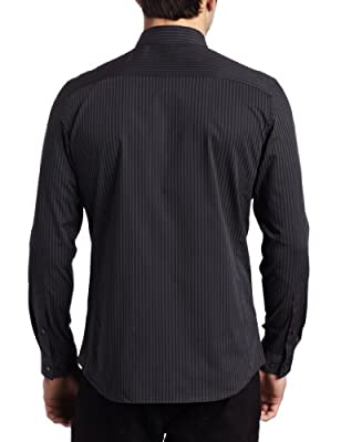 Calvin Klein Men's Slim-Fit Pinstripe Button-Front Shirt