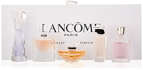 Lancôme La Collections de Parfums Five Piece Mini Gift Set for Women(packaging may (0.16 Ounce Edp Splash)