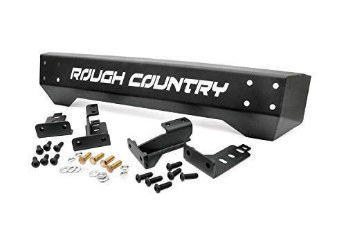 97 Aggressive Front Bumper - Rough Country - 1011 - Front Stubby Bumper for Jeep: 97-06 Wrangler TJ 4WD, 04-06 Wrangler Unlimited LJ 4WD, 87-95 Wrangler YJ 4WD