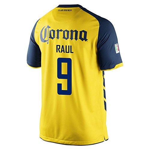硬いマイナー電極Nike Raul #9 Club America Home Men Jersey/サッカーユニフォーム クラブ?アメリカ ホーム用 ラウール 背番号9