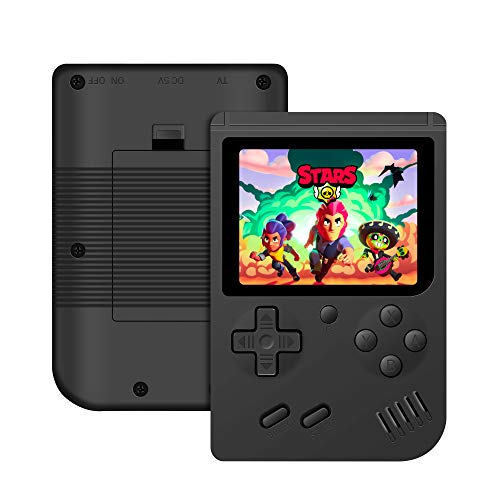 Mademax Handheld Game Console, Game Console 3 Inch 168 Games Retro FC Game Player Classic Game Console 1 USB Charge, Birthday Presents for Children - Black