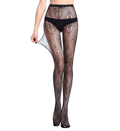 Nets Pantyhose Women's Fishnet Lace Panty Hose Jacquard Weave Stocking Lingerie -