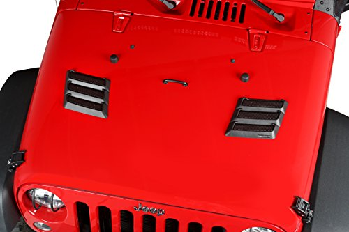 Rugged Ridge 17759.09 Black Performance Hood Vent for Jeep JK Wrangler by Rugged Ridge (Image #3)