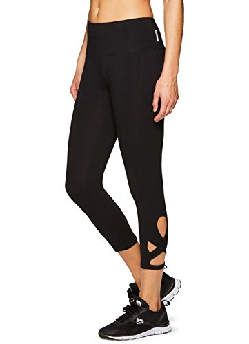 RBX Active Women's Yoga Pilates Cotton Capri Leggings Pilates Black S